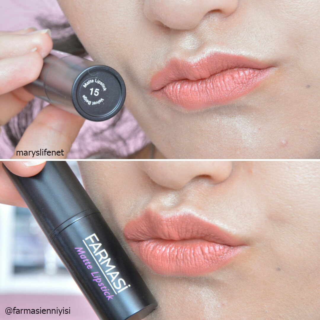 Farmasi Matte Lipstick 15 Numaralı Velvet Beige Ruj Meryemle