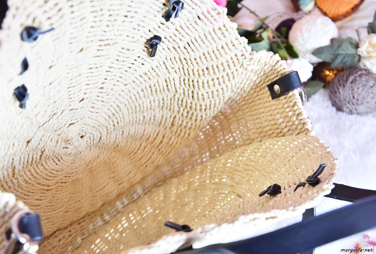 Ponponlu Yuvarlak Hasır Çanta Modeli