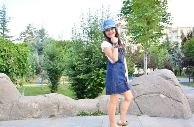Salopet Elbise Mini