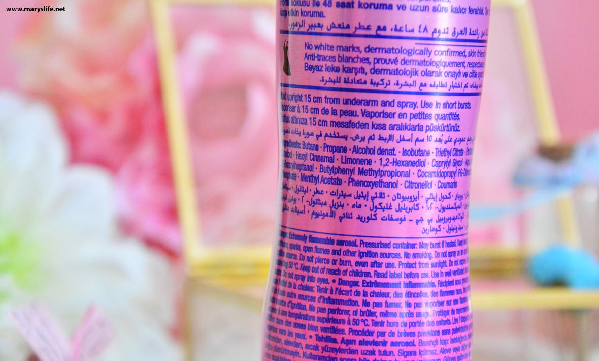 Fa Pink Passion Deodorant İçindekiler