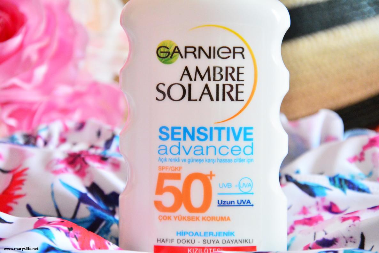 Garnier Ambre Solaire Sensitive Advanced Koruyucu gkf50+ 200ml