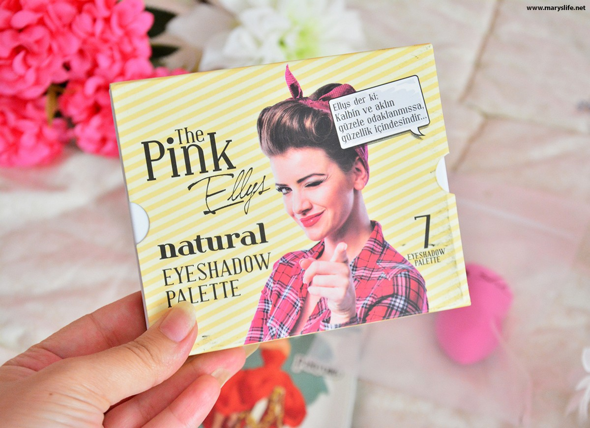 The Pink Ellys Natural Eyeshadow Palette 7li Far Paleti