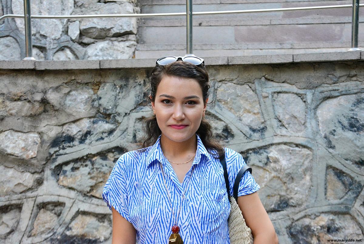 Mavi Gömlek Modelleri Bayan