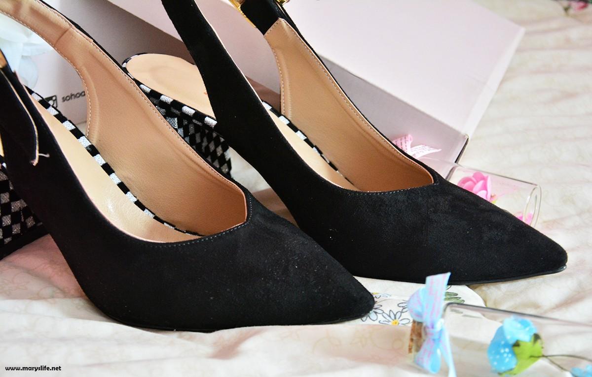 Siyah Süet Topuklu Ayakkabı Modelleri