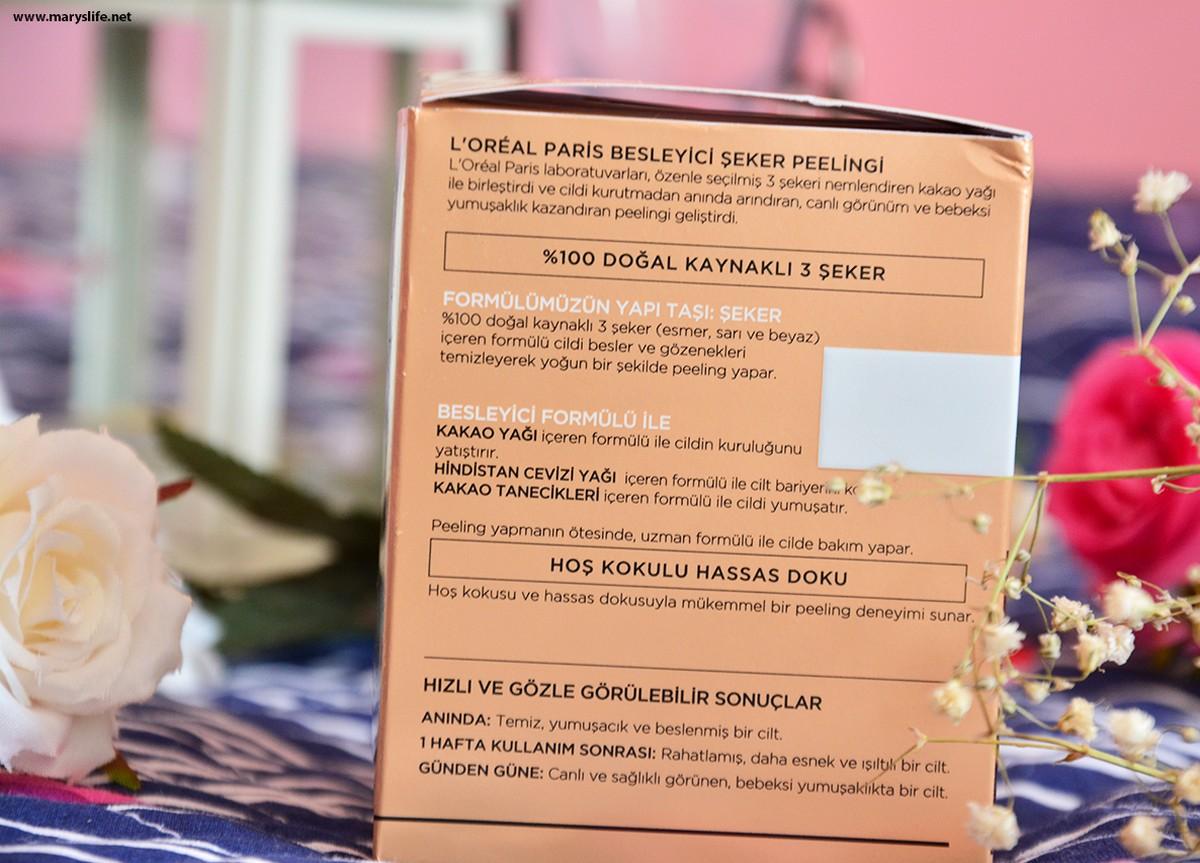 L'oreal Paris Şeker Peelingi Besleyici Özellikleri