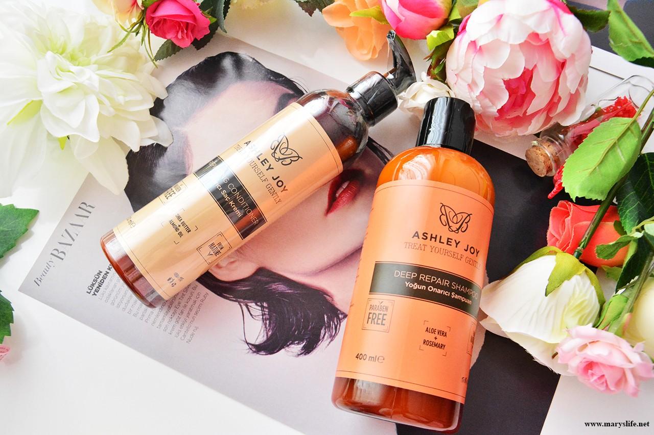 Ashley Joy Yoğun Onarıcı Saç Bakım Serisi Şampuan ve Saç Kremi