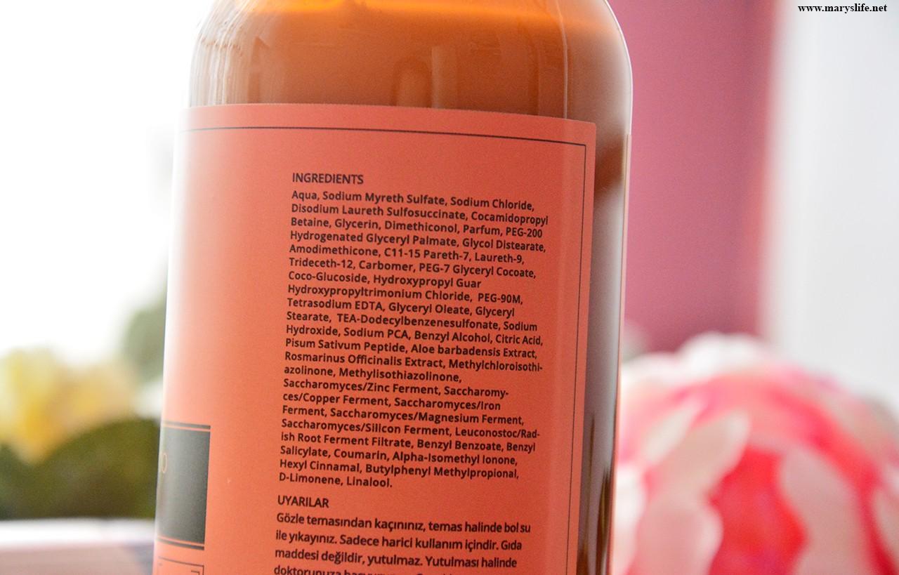 Ashley Joy Yoğun Onarıcı Şampuan İçindekiler