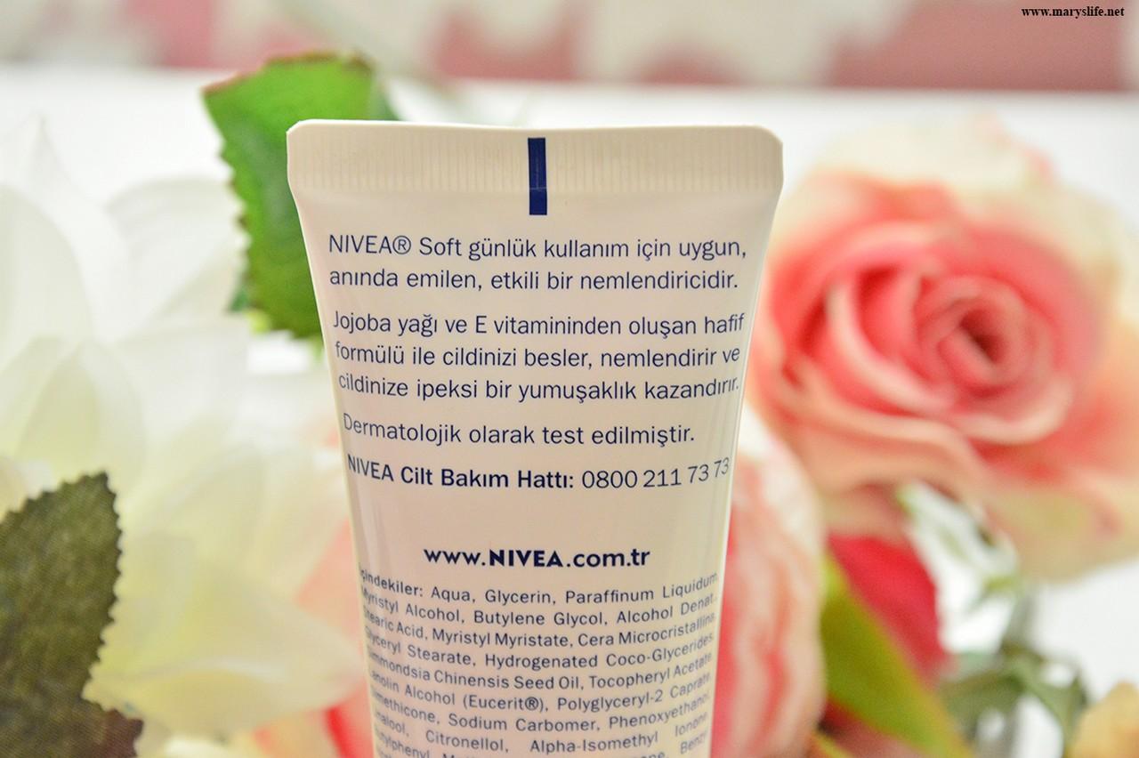 Nivea Soft Nemlendirici Bakım Kremi Özellikleri