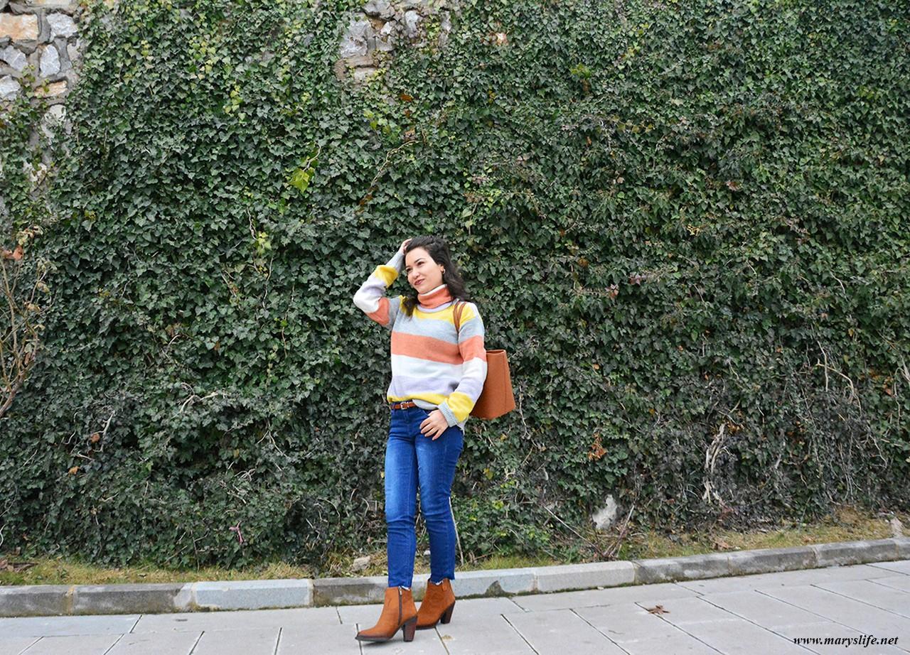 Kışlık Boğazlı Kazak Modelleri Bayan