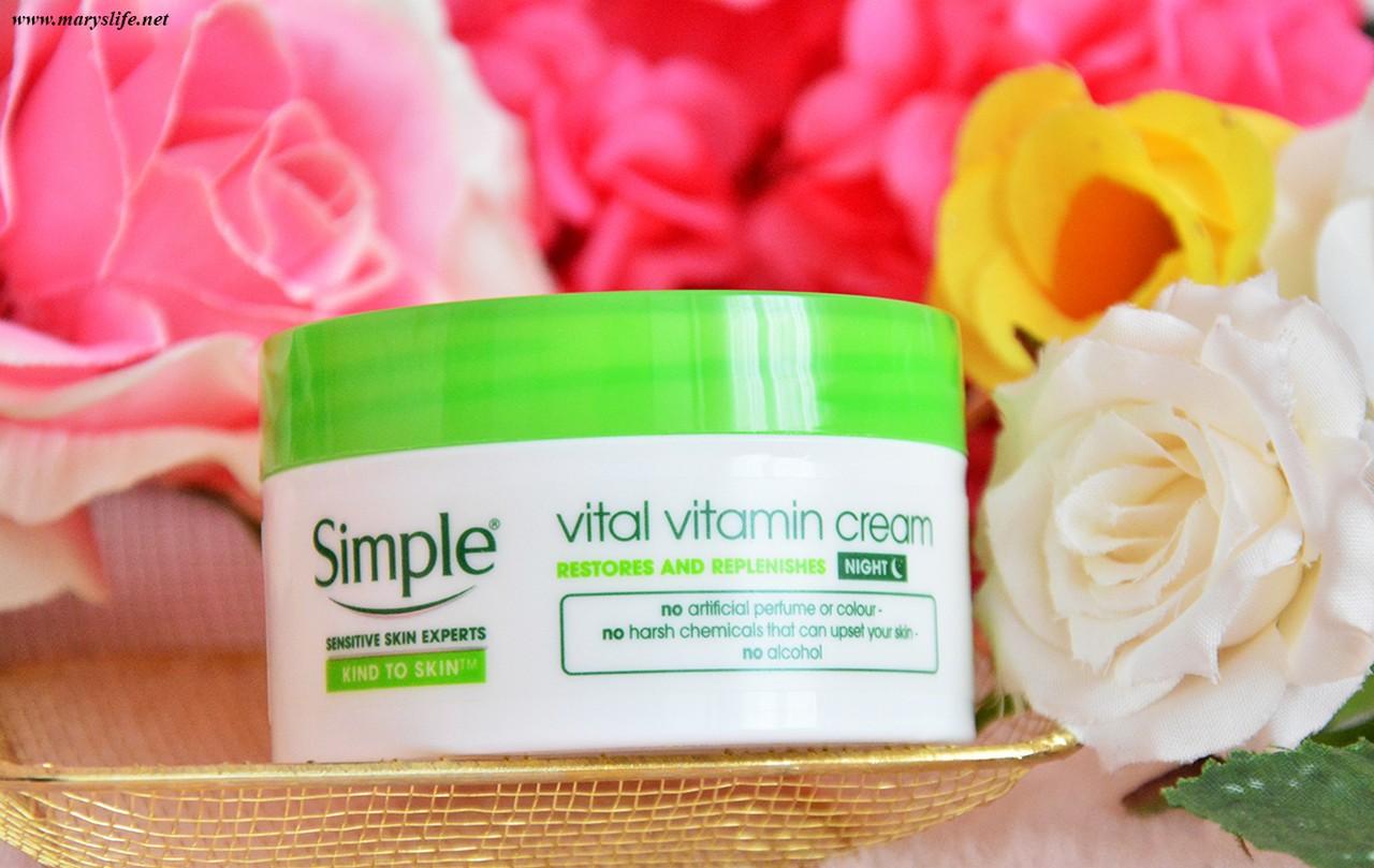 Simple Vital Vitamin Gece Kremi İncelemesi