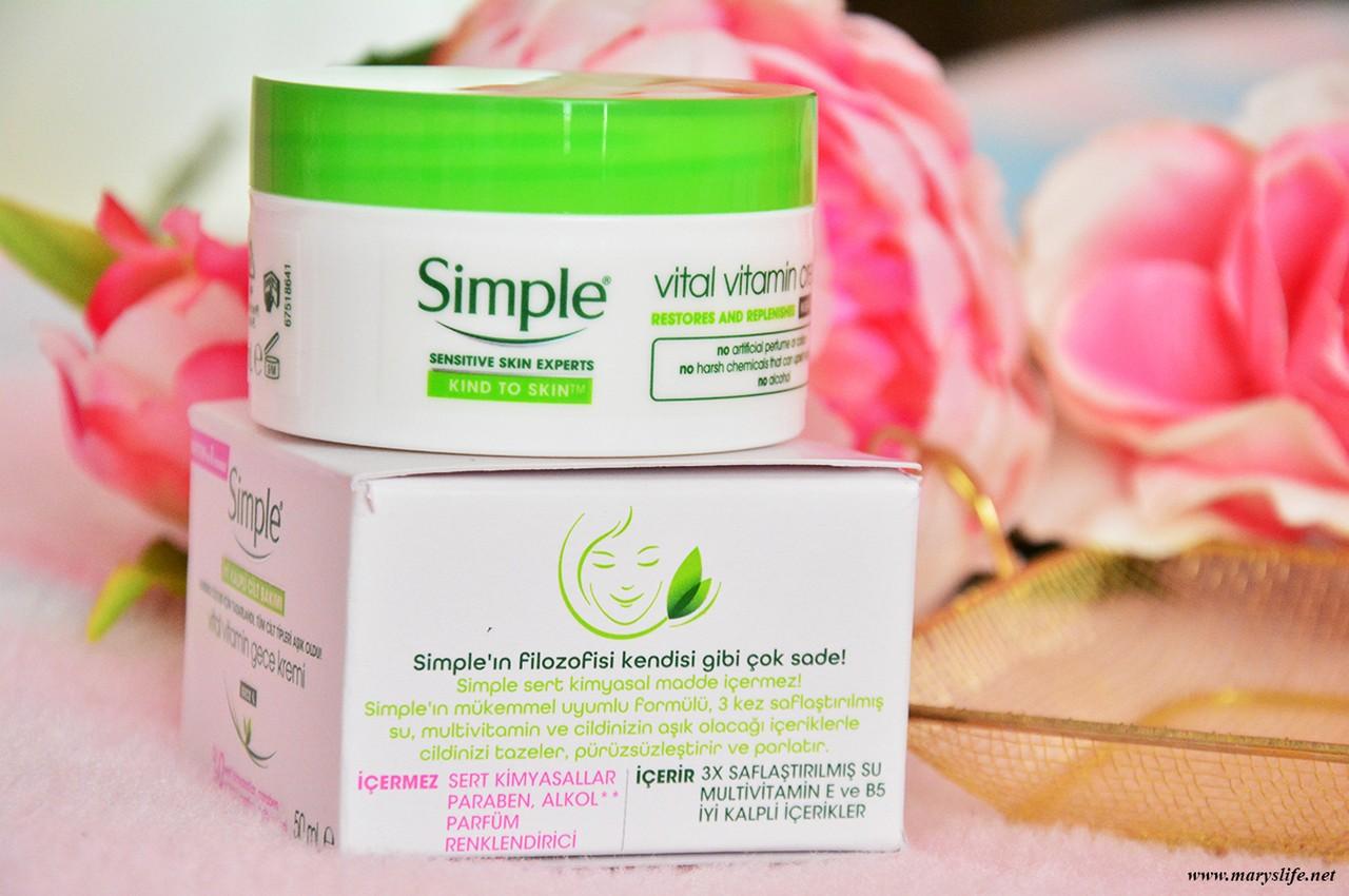 Simple Vital Vitamin Gece Kremi Yorumlar
