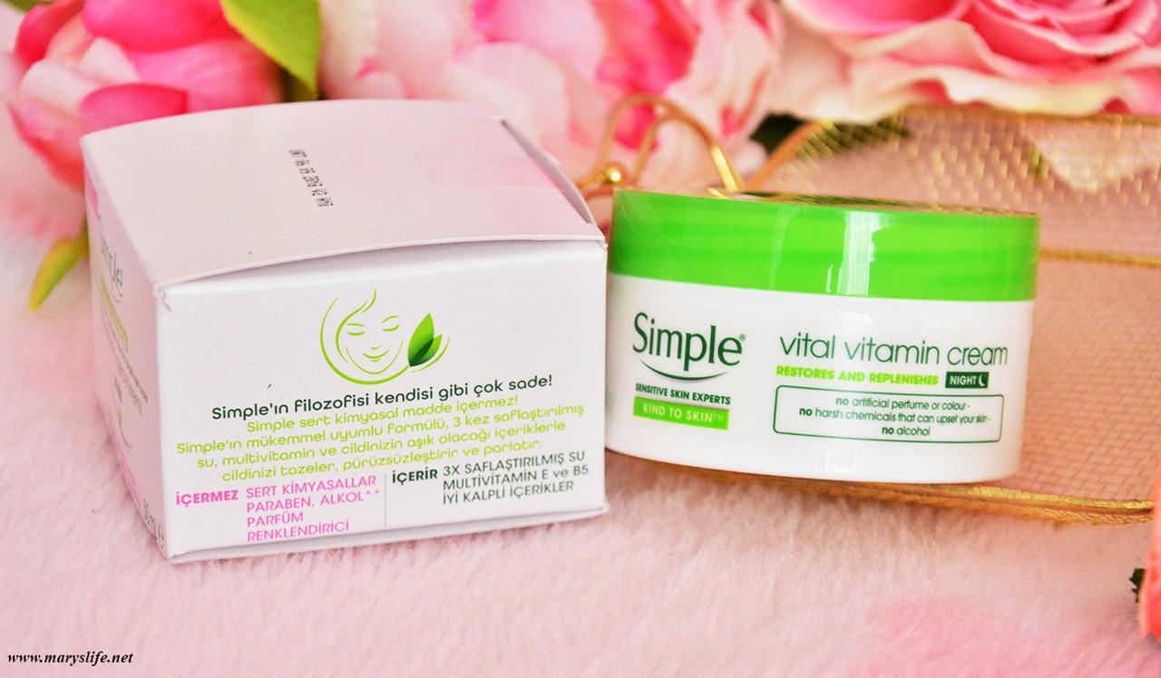 Simple Vital Vitamin Gece Kremi Nerede Satılıyor? | Fiyatı