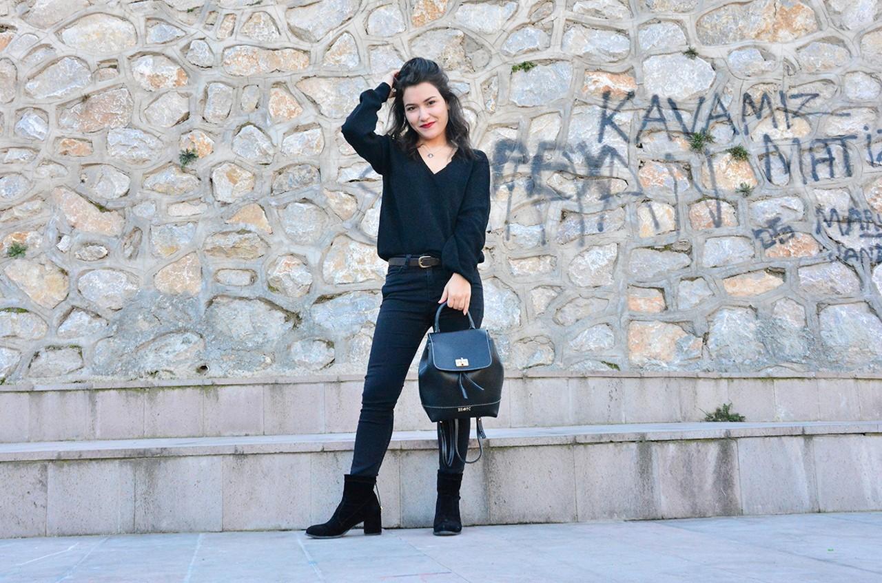 Siyah Pantolon Kombin Bayan