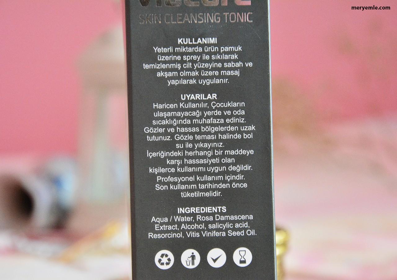 Viacure Skin Cleansing Tonic | Tonik İçindekiler