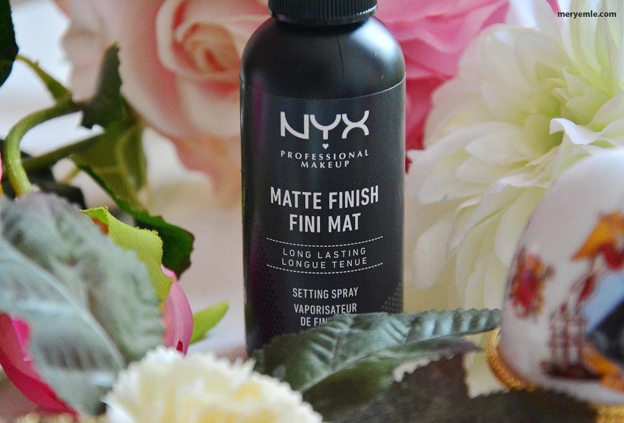 Nyx Matte Finish Fini Mat Makyaj Sabitleme Spreyi İncelemesi