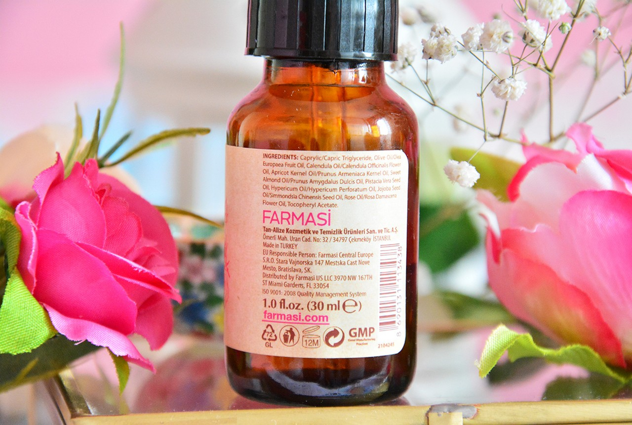 Farmasi Pure Rose Serum İçindekiler