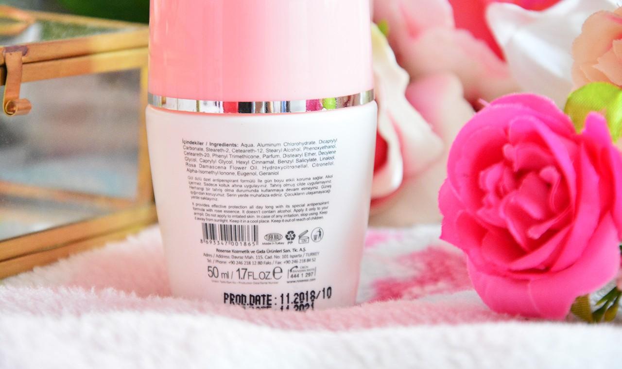 Rosense Roll On Deodorant İçindekiler