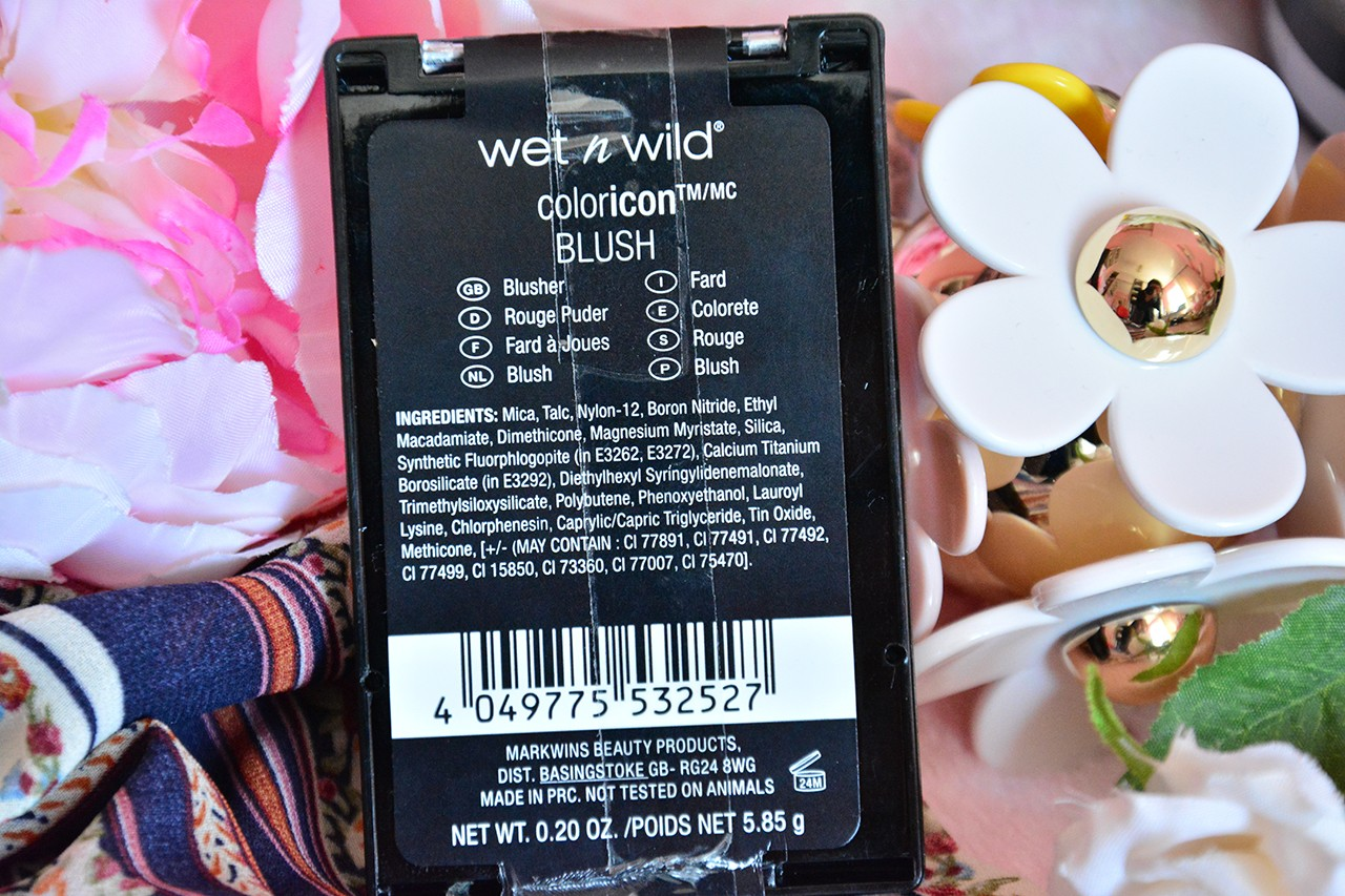 Wet'n Wild Color Icon Allık Pearlescent Pink İçerik