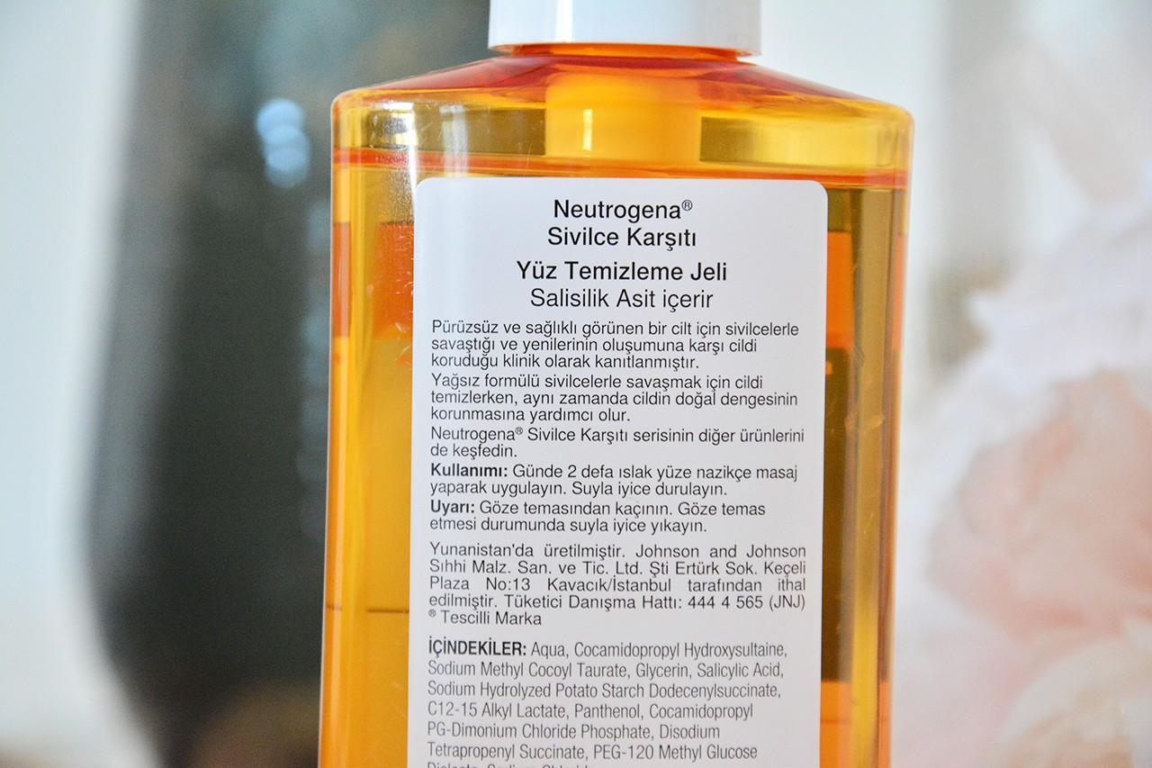 Neutrogena Sivilce Karşıtı Temizleme Jeli Blog