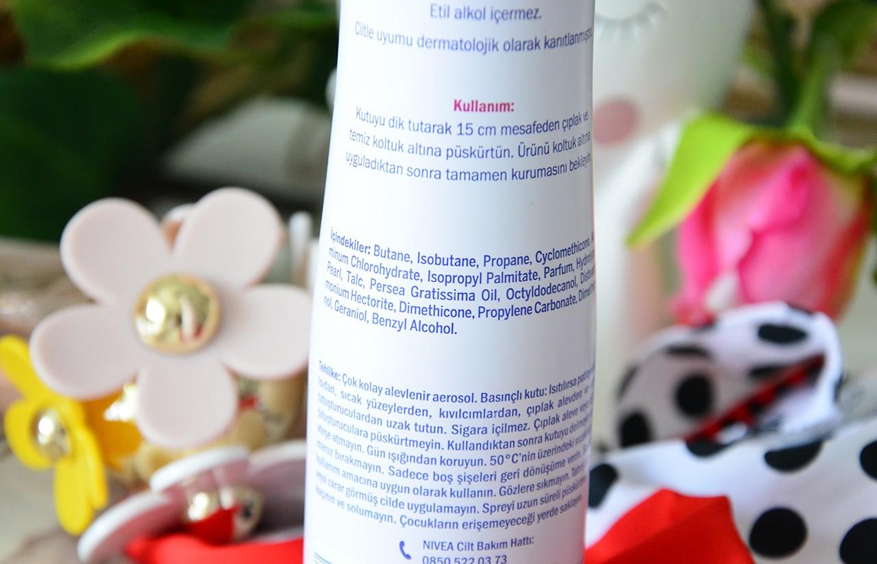 Nivea Pearl Beauty Deodorant İçindekiler